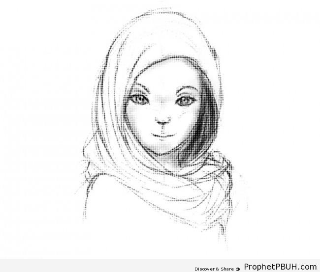 650x554 Muslim Girl Drawing Drawings 003 Prophet Pbuh (Peace Be Upon Him)