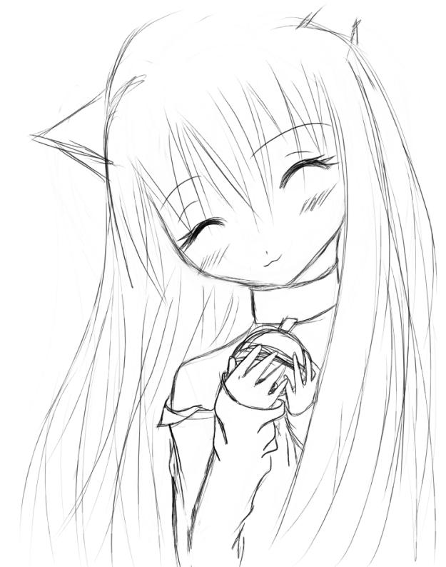 625x794 Neko Girl Drawing By Darkkitty123
