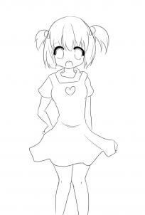 204x302 Photos Cute Simple Girl Drawing,