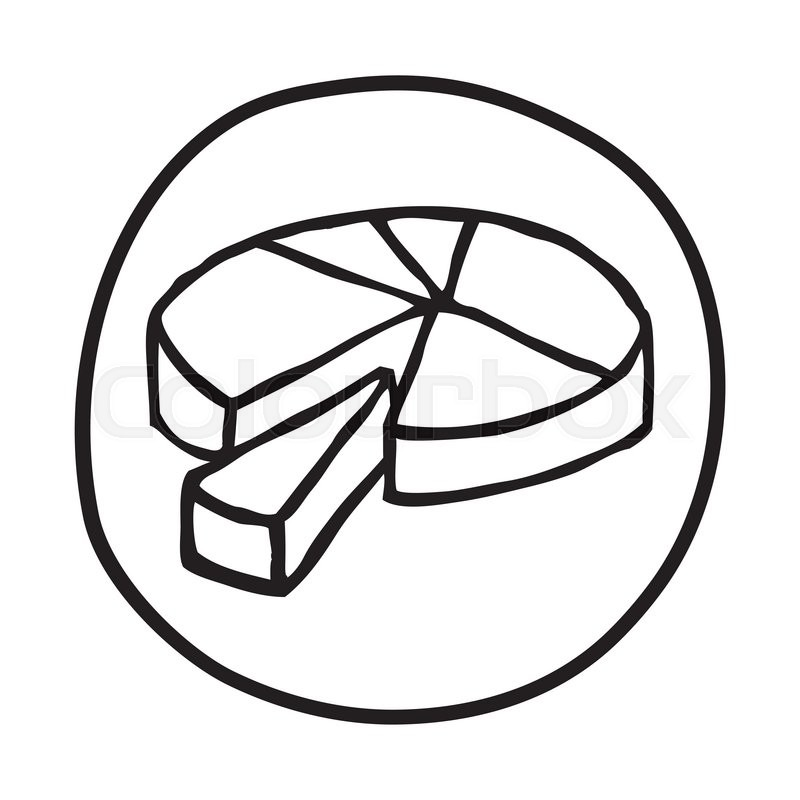 800x800 Doodle Pie Chart Icon. Infographic Symbol In A Circle. Line Art