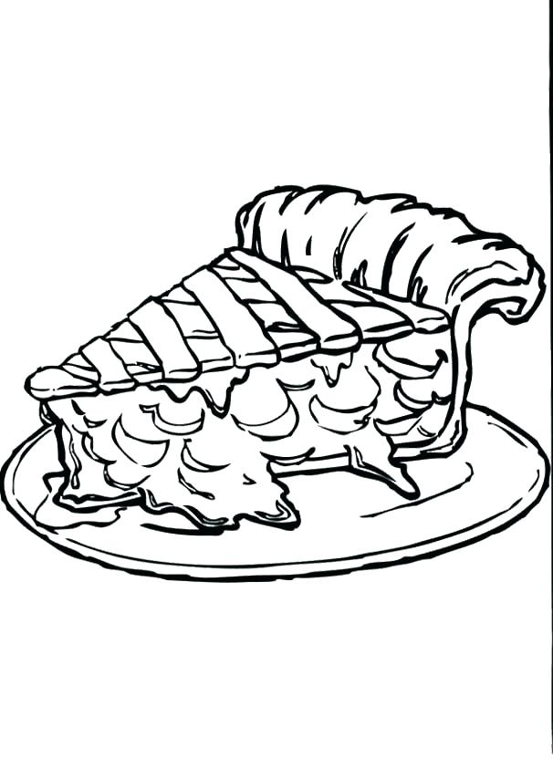 606x843 Pumpkin Pie Coloring Page Pumpkin Pie Coloring Page Apple Pie