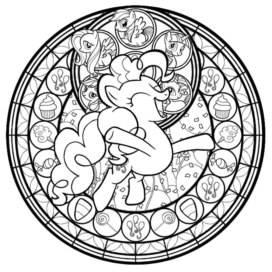 Stained Glass Rainbow Friendship Fluttershy By Akili Oneletter Co
