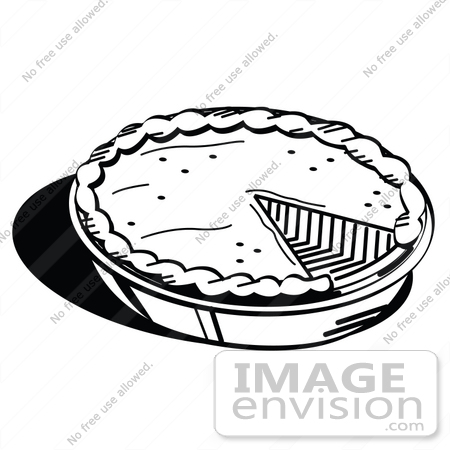 450x450 Clip Art Graphic Of A Black And White Pumpkin Or Apple Pie Missing