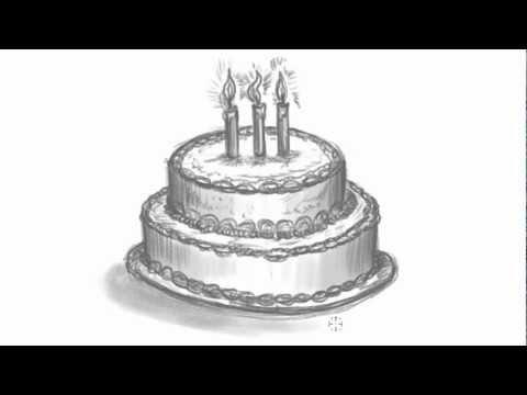480x360 How To Draw A Birthday Cake