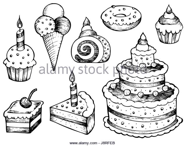 640x502 Piece Cake Cartoon Illustration Stock Photos Amp Piece Cake Cartoon
