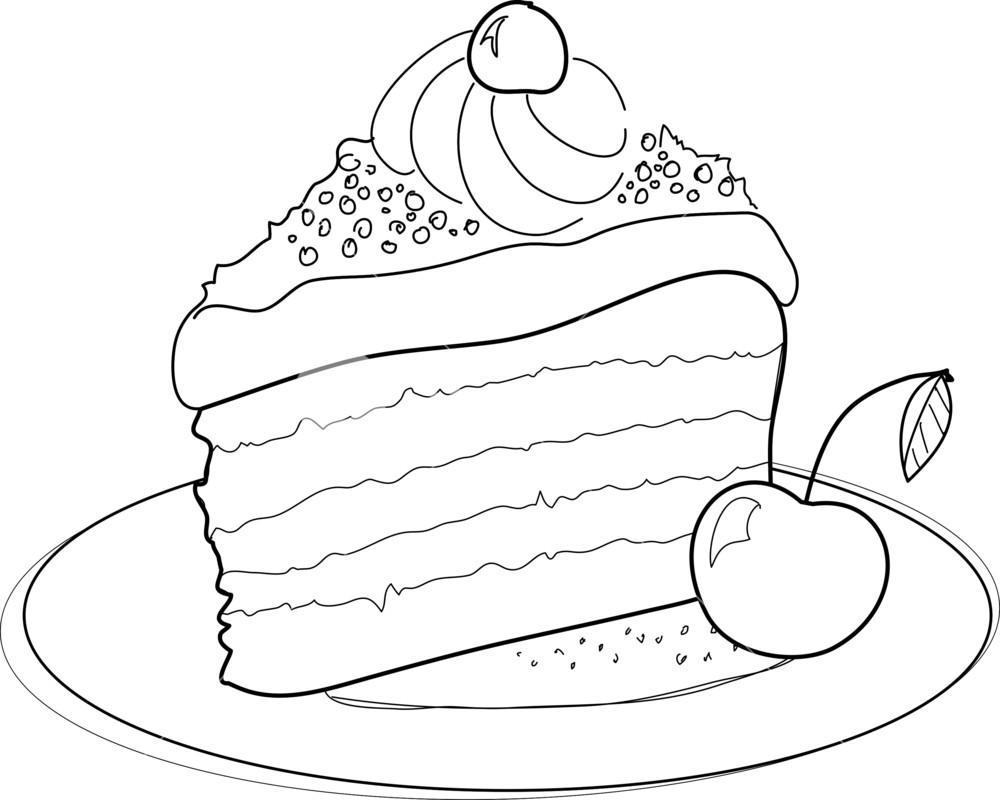 1000x800 Piece Of Cake Royalty Free Stock Image