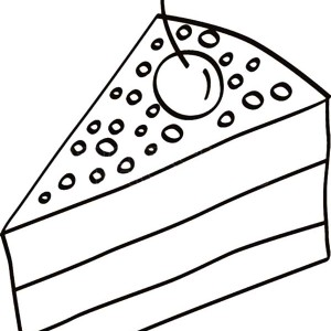 300x300 Piece Of Cake Slice With Strawberry Coloring Pages Best Place