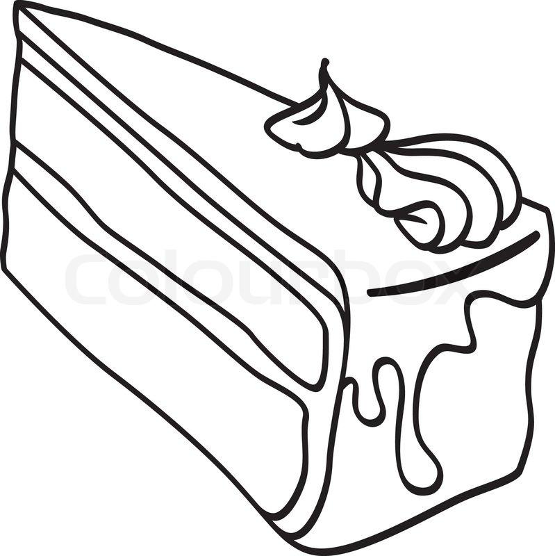 799x800 Piece Of Cake Doodle Stock Vector Colourbox