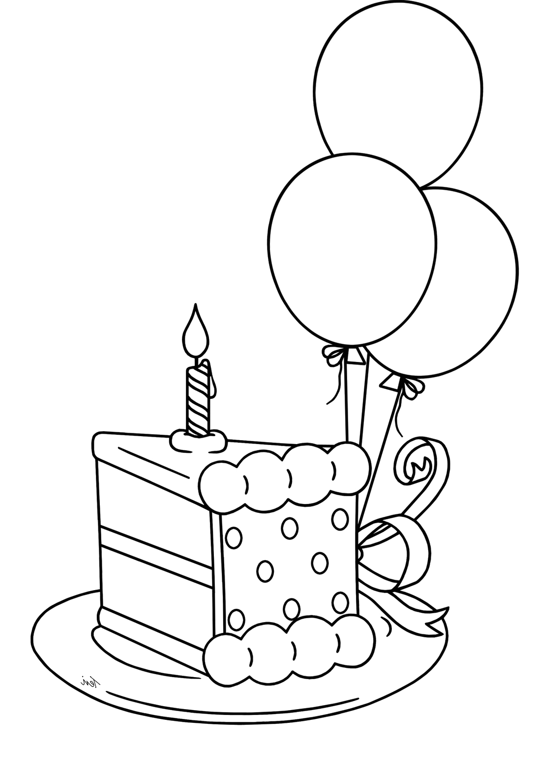 1084x1574 Slice Of Birthday Cake Drawing Birthday Cake Ideas