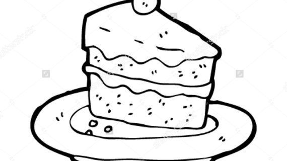 570x320 Slice Of Cake Drawing How To Draw A Cartoon Piece Of Cake