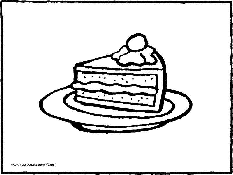 800x602 Cake Colouring Pages