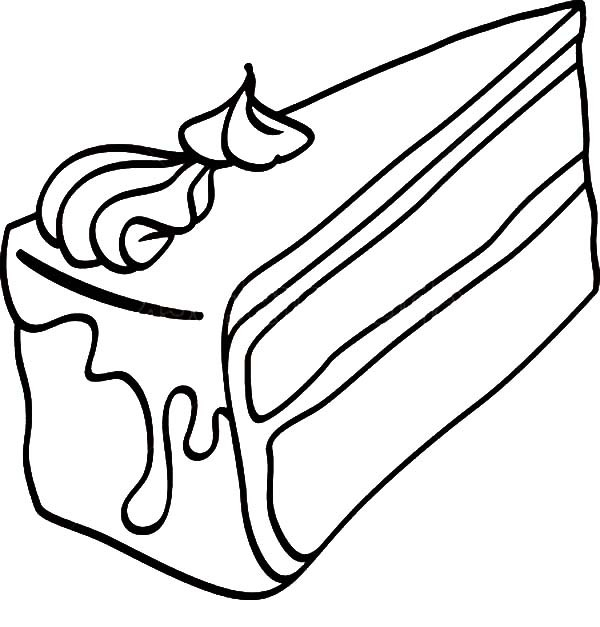 600x627 Black Forest Cake Slice Coloring Pages Best Place To Color