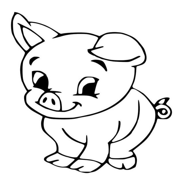 640x640 Car Stying 1515cm Big Eyes Baby Pig Cartoon Fashion Car Styling