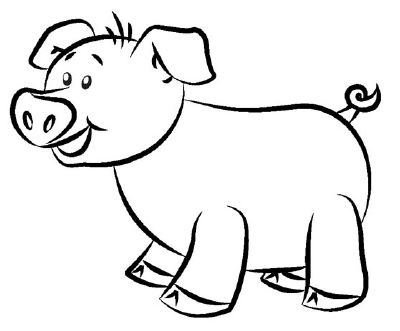 400x331 Coloring Pages For Kids Pigs Drawings Drawing