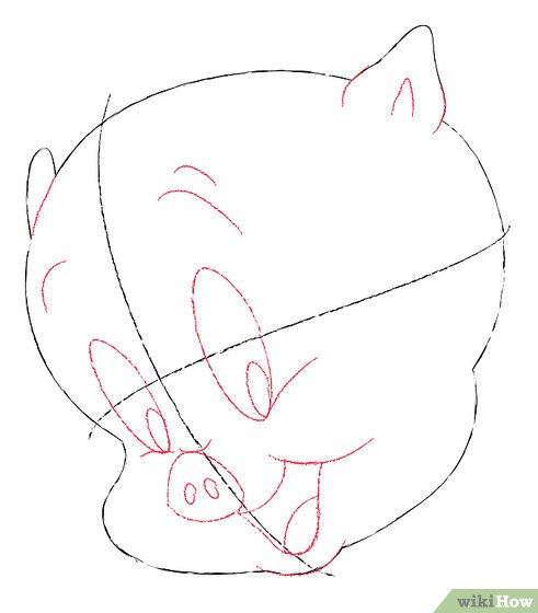 491x560 How To Draw Porky Pig 7 Steps (With Pictures)