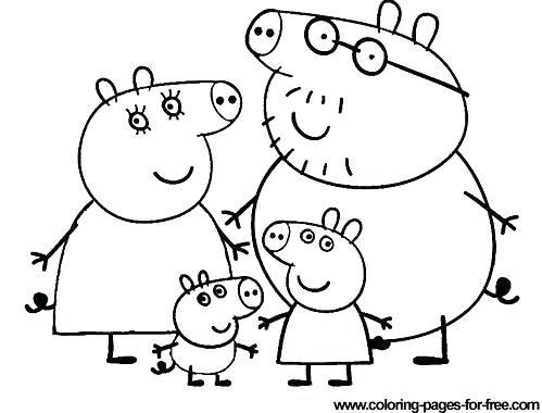 499x380 Peppa Pig Coloring Book As Well As Pig Coloring Pages Pig Coloring