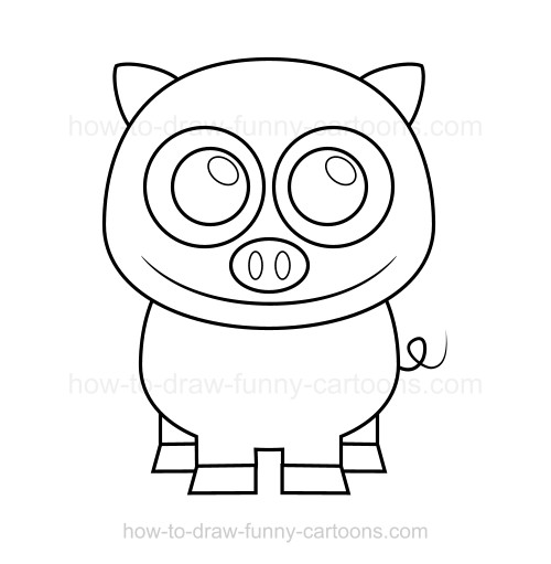 500x511 To Draw A Pig