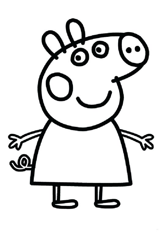 527x788 Peppa Pig Coloring Pages Pig Coloring Pages For Kids Peppa Pig