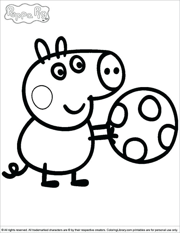 612x792 Pig Coloring Book Together With Pig Coloring Pages Free Printable