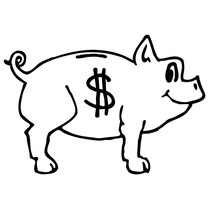 700x700 Pig Template