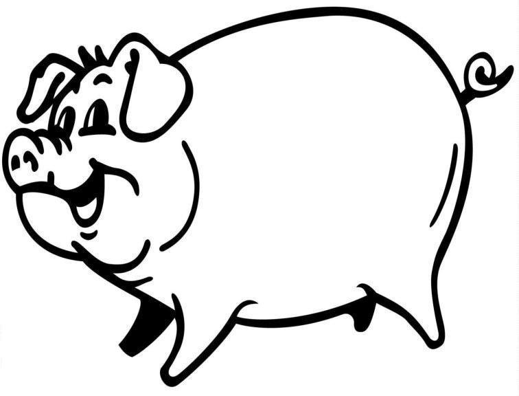 756x576 Big Pig Coloring Pages For Kids Recipes To Cook