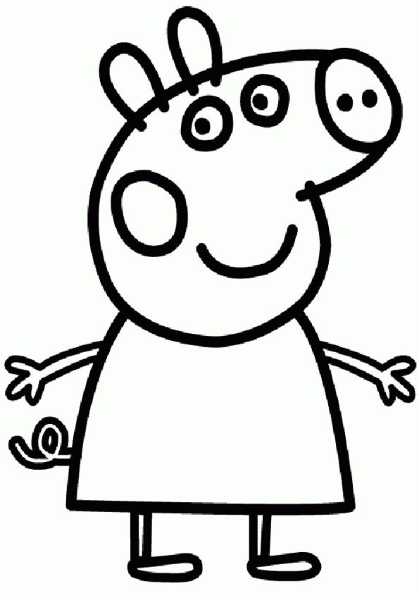 595x842 coloring pages for girls papa pig preschool in sweet draw image