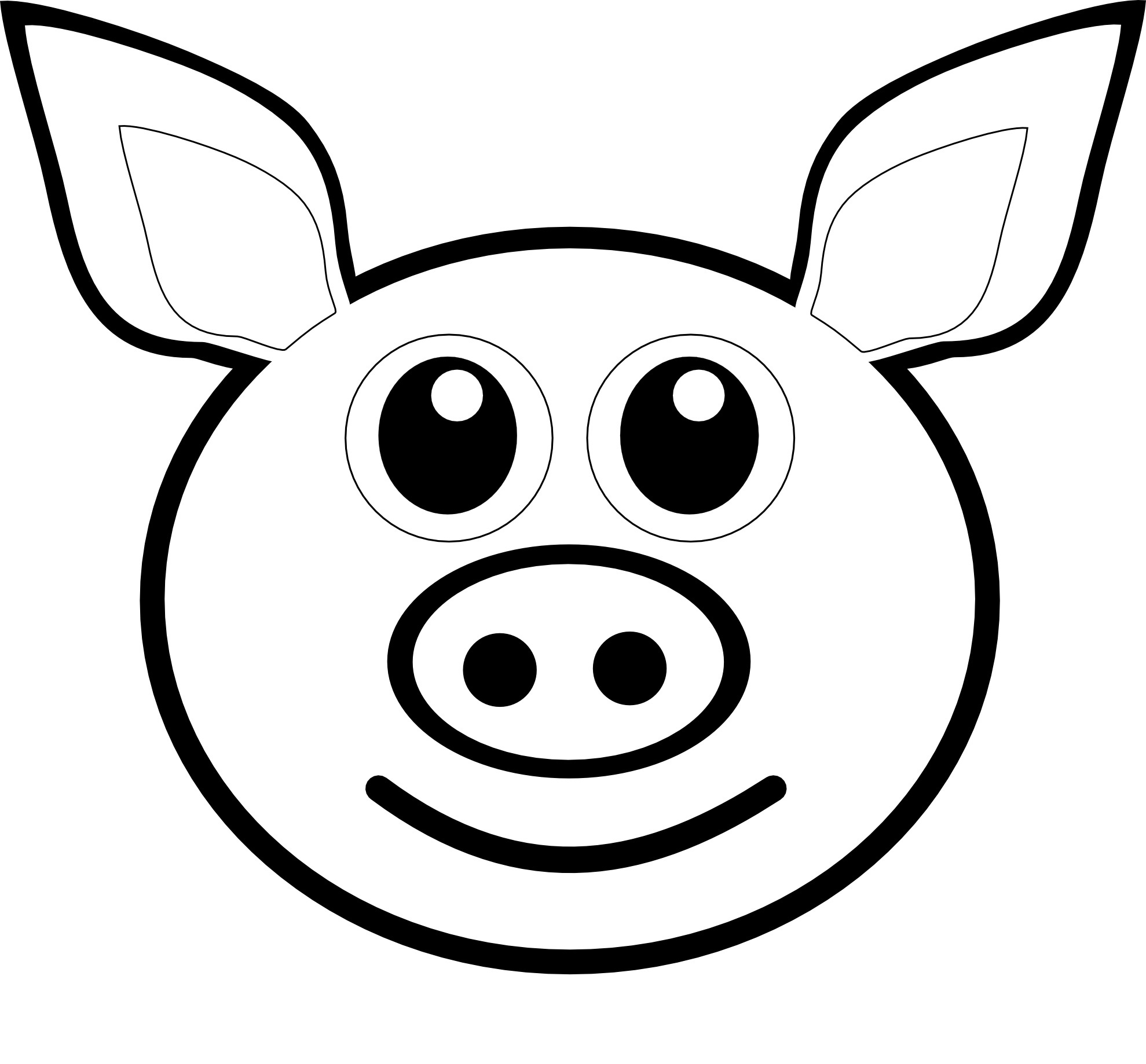 Pig Drawing Outline at GetDrawings.com | Free for personal use Pig ...