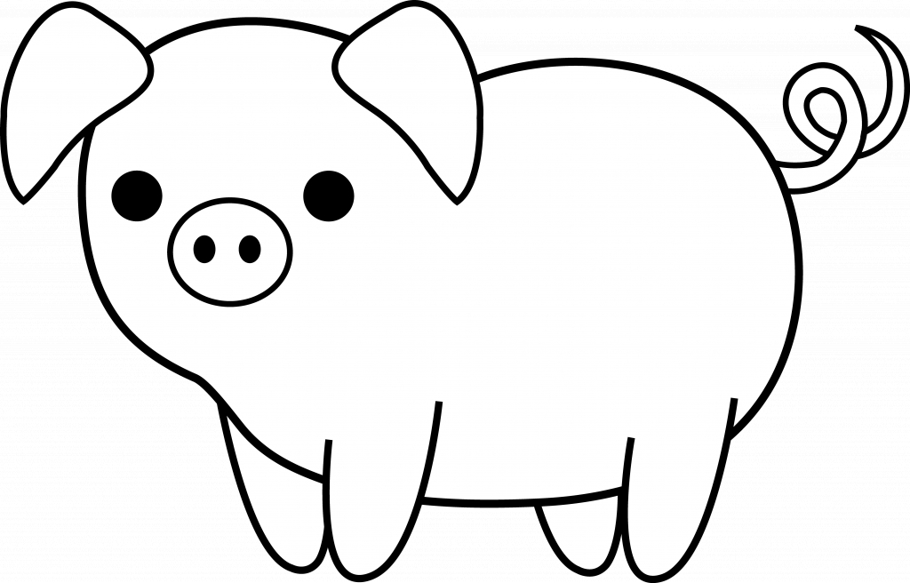 1024x656 cartoon drawings of pigs clipart drawing of a pig