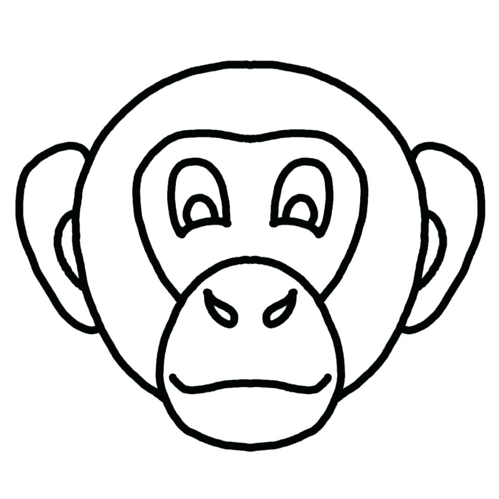 970x970 Pig Face Coloring Page 102 Astonishing Pages Santa Template Free