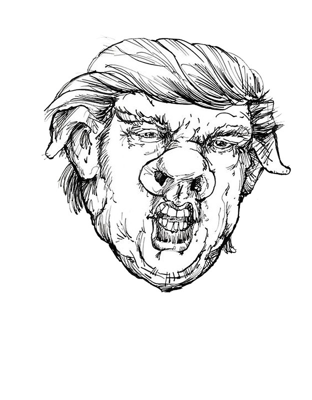624x800 Pig Face Donald Photographic Prints By Dru1138 Redbubble