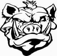 200x197 Scary Pig Face , Vinyl Sticker, Stickers , Decal , Deco , H = 50cm