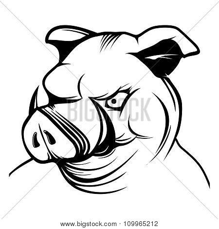 450x470 Vector Pig Head Cartoon Mascot Vector Amp Photo Bigstock