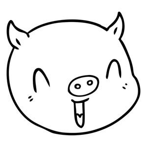 300x300 Cartoon Pig Clip Art. How To Draw A Cute Pig Step 4. Draw Porky