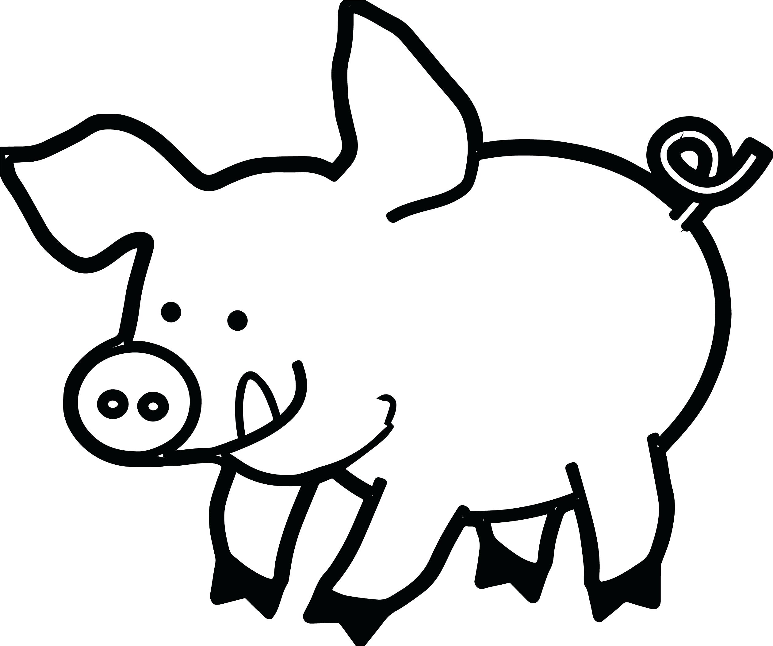 2521x2106 Coloring Pig Face Coloring Page