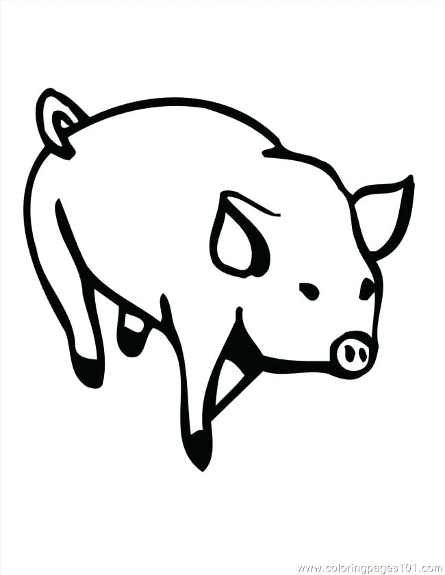 650x840 Coloring Page Of A Pig Pig Face Coloring Page Pig Face Coloring