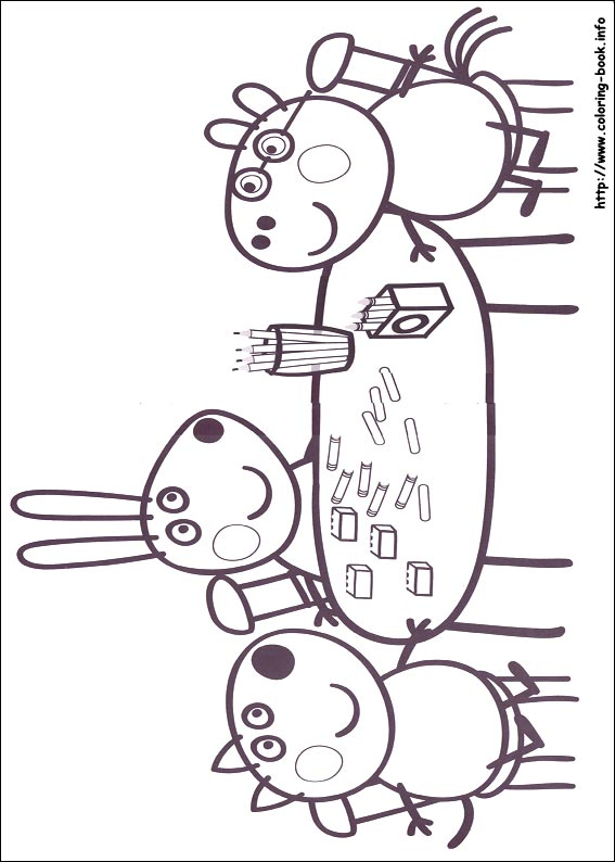 567x794 Peppa Pig Drawing Templates Peppa Pig Coloring Pages On Coloring