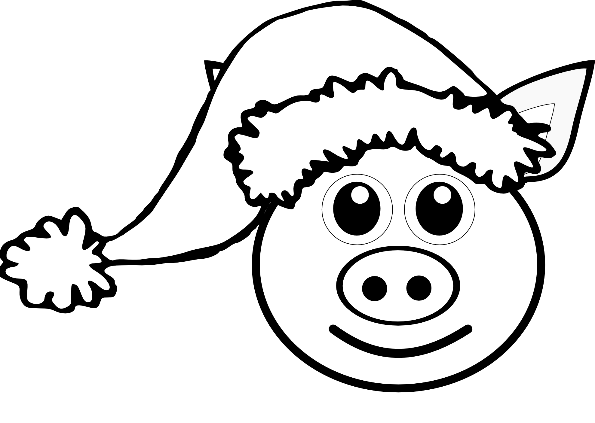 1979x1408 Pig Coloring Pages Preschool Animal Free Printable Animals Cute