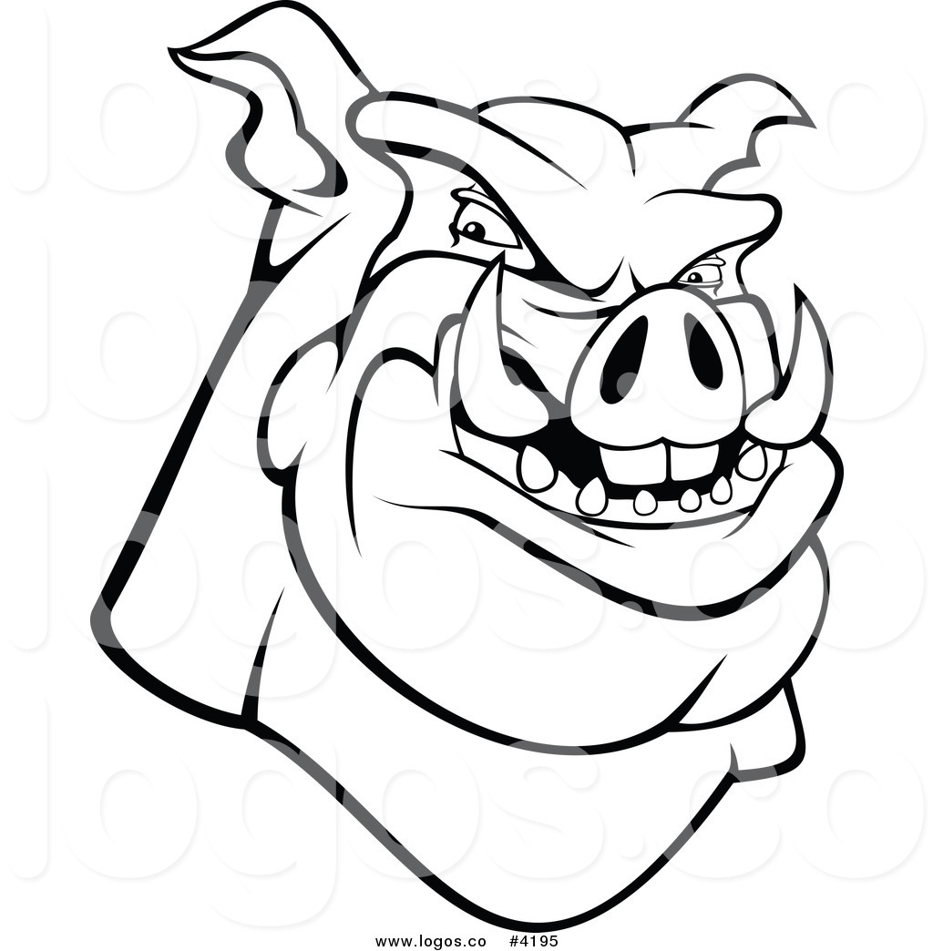 1024x1044 Royalty Free Angry Hog Logo By Vector Tradition Sm