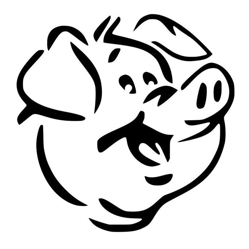 Pig Skull Drawing