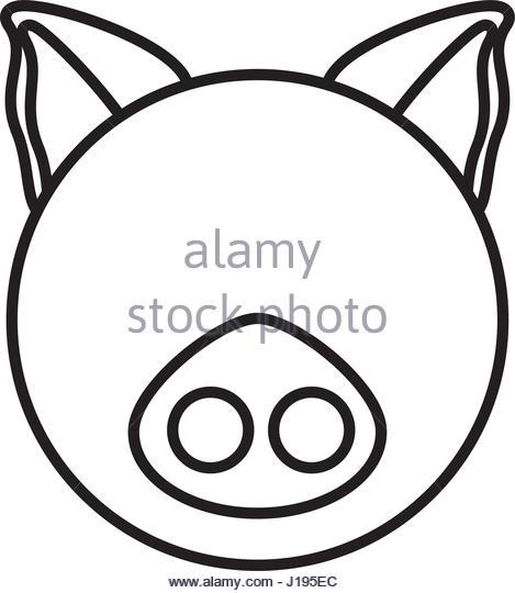 469x540 Pig Head Illustration Stock Photos Amp Pig Head Illustration Stock