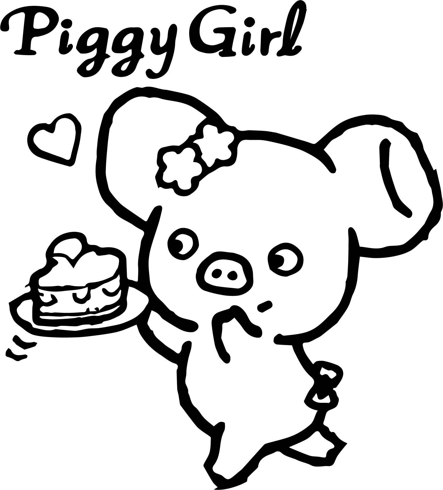 1548x1714 Piggy Girl Pig Cake Strawberry Towel From Japan Coloring Page