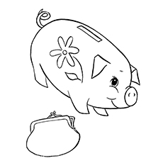 230x230 10 Piggy Bank Coloring Pages For Your Little Ones