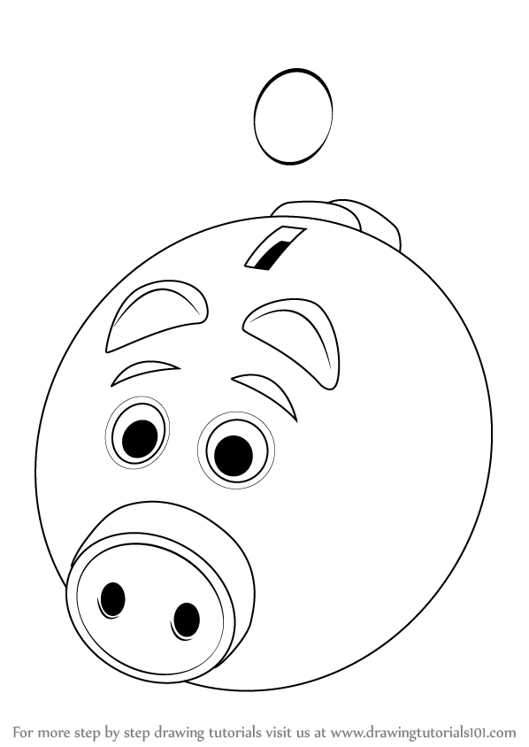 598x844 Learn How To Draw A Piggy Bank For Kids (Everyday Objects) Step By
