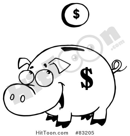 450x470 Piggy Bank Clipart