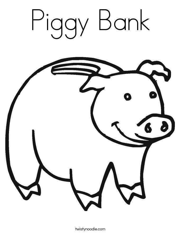 685x886 Piggy Bank Coloring Page