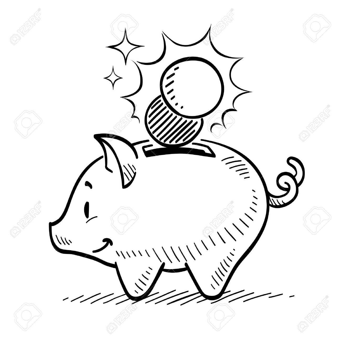 1300x1300 Piggy Bank Royalty Free Cliparts, Vectors, And Stock Illustration