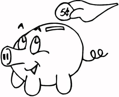480x391 Piggy Bank Coloring Page Free Printable Coloring Pages