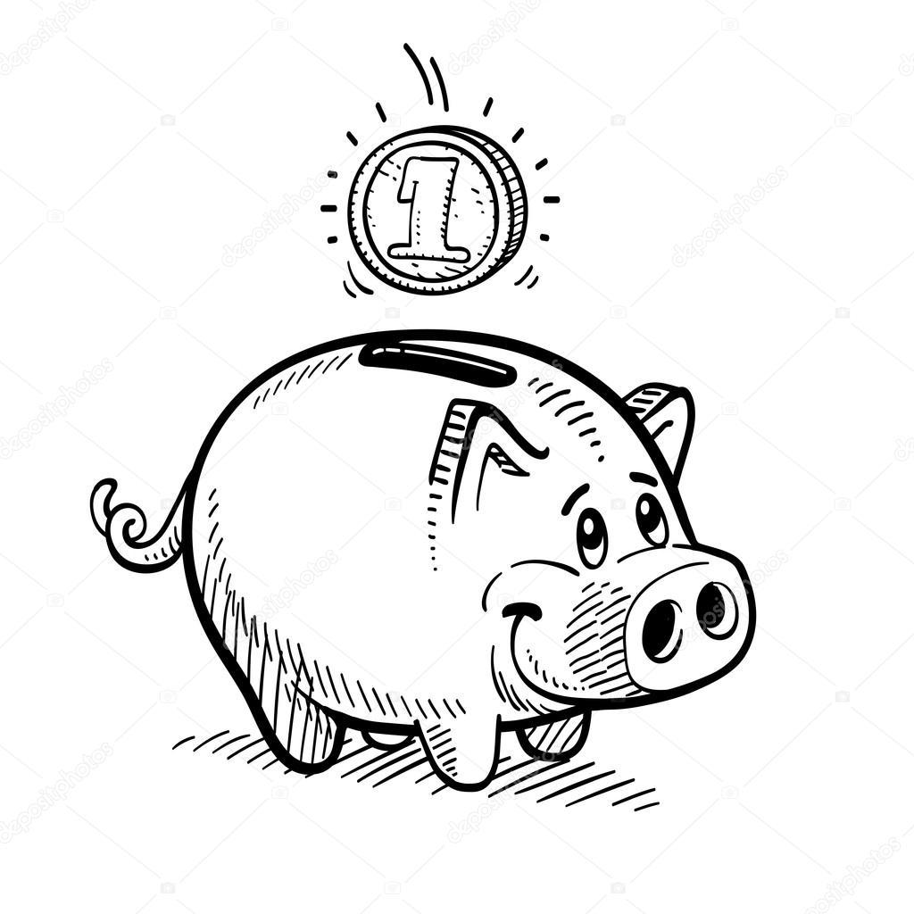 1024x1024 Piggy Bank Stock Vector Dynamic