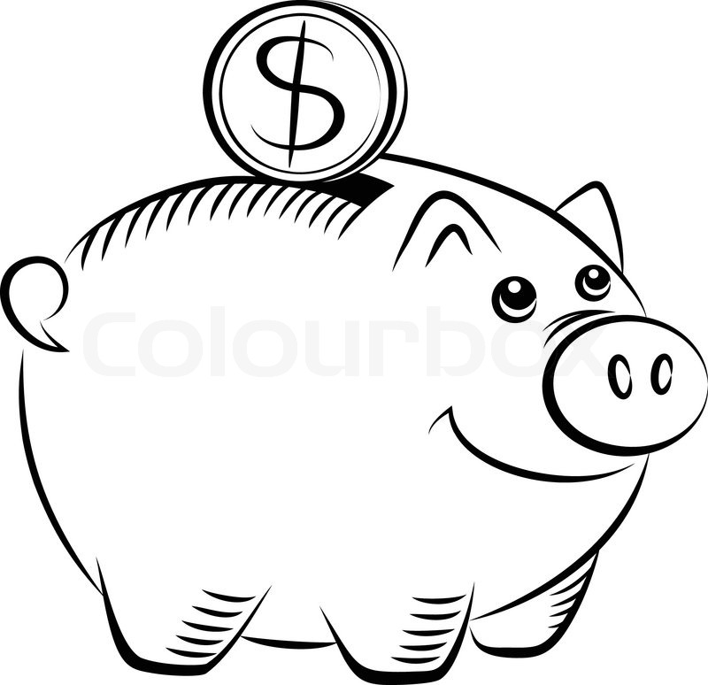 800x774 Piggy Bank Icon Stock Vector Colourbox