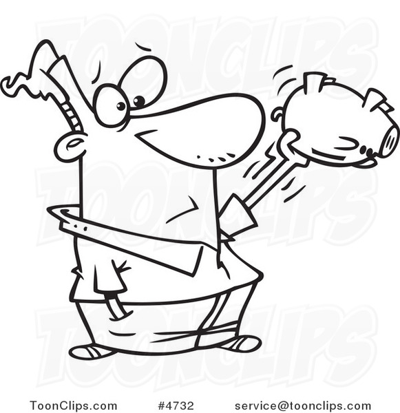 581x600 Cartoon Black And White Line Drawing Of A Guy Shaking His Empty